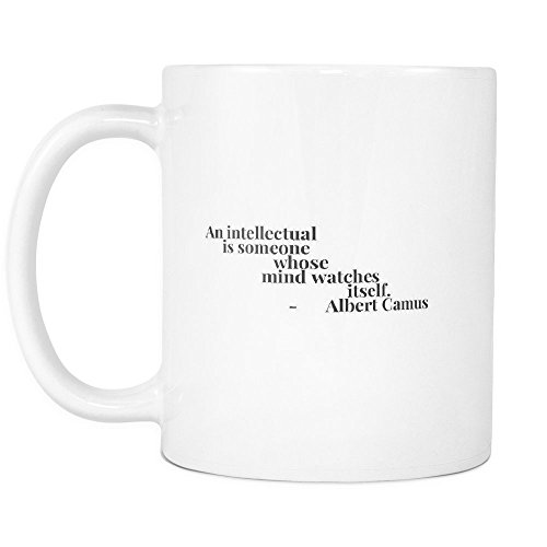 Funny Coffee Mug ,An intellectual is someone whose mind watches itself. , White Ceramic, 11 - Toronto Station Watch