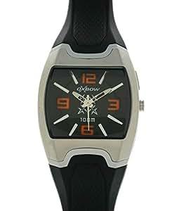 Oxbow Men`s Black Dial Polyurethane Band Watch [4511403]