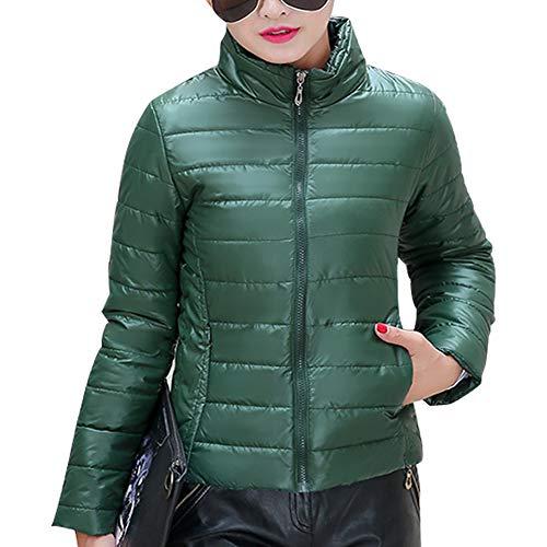 Plus Green Dark Outdoor Womens Fashion Down Outerwear Jacket Size Jacket Short XFentech Coat qOH757