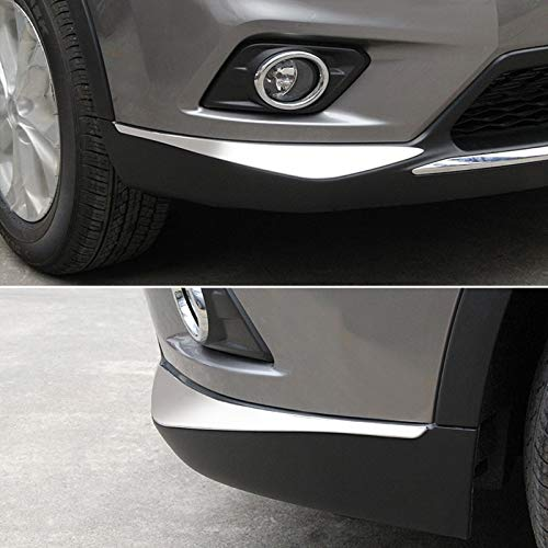 LoLa Ling ABS Chrome for Nissan X-Trail X Trail T32 Rogue 2014-2017 Front Bumper Corner Protector Cover Trim Car Accessories 2pcs