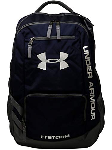 (Under Armour UA Team Hustle Backpack, Midnight/Graphite Silver,)