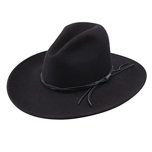 Gus - Soft Wool Cowboy Hat (Large, Black) (Felt Gus Hat)