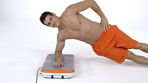 Power Fit Platform Fitness Plate Full Body Vibration Machine Exercise Workout Gym Trainer