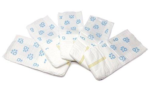 Image of ValueWrap Male Dog Wraps, Single-Tab Medium, 24 Count