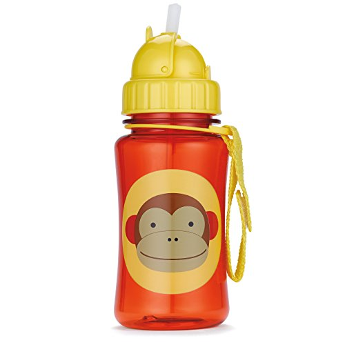 Skip Hop Straw Cup, Toddler Transition Sippy Cup, Monkey
