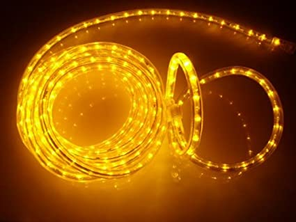 10ft brilliant amber 3 wire chasing led rope light kit christmas lighting outdoor rope
