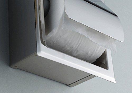 Carejoy Support de Papier Toilette Chrome Porte-Papier de Toilette WC, Porte-Rouleau de Papier Toilette en Acier Inoxydable (Argent)