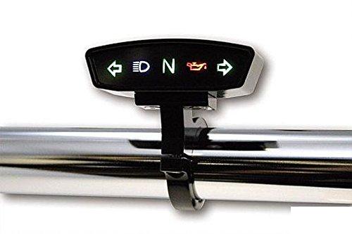 Solo Quadro Indicatore di Comando Spie Alloggio Nero Moto Harley e Custom (No Supporto) Custom Chrome 607058