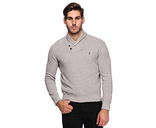 Polo Ralph Lauren Men's French Rib Shawl Sweater (XL, Andover - For Polo Big Pony Vest Men
