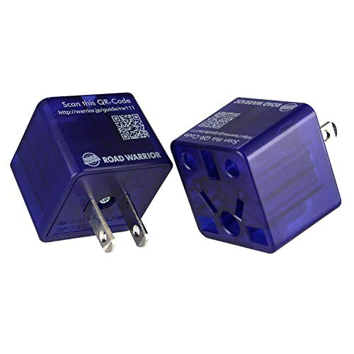[2 Pack] ROAD WARRIOR US Travel Plug Adapter EU/UK/CN/AU/IN to USA (Type A) - RW111BL-US (Travel To Nepal From India By Road)