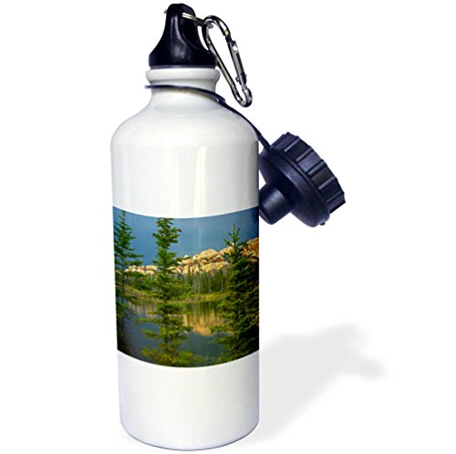 3dRose Danita Delimont - lakes - Miette Range and Talbot Lake, Jasper National Park, Alberta, Canada - 21 oz Sports Water Bottle (Lake Jasper)