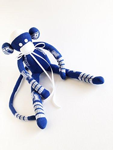 University of Kentucky - Sock Monkey - UoK - Wildcats Plush - Blue Sock Monkey - Kentucky Wildcats - NCAA - College Sock Monkey - Wildcats ()