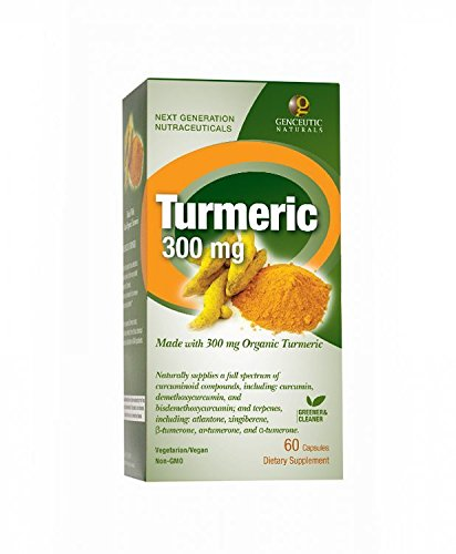 Genceutic Naturals Organic Turmeric 300 Mg, 60-Count Review