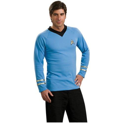Starfleet Academy Uniform Costumes - Star Trek Classic Deluxe Blue Shirt,