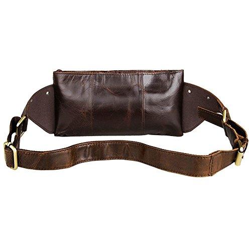Othilar Vintage Leder Herren klein Tasche Gürteltasche Hüfttasche Geldtasche für Reise Sport