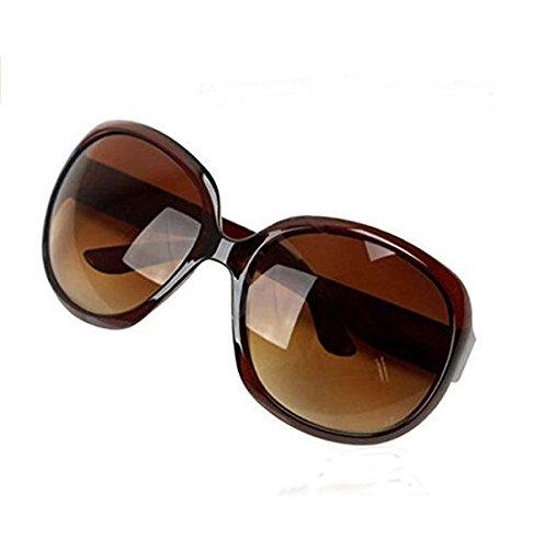 para de de de de marrón Gafas Fiesta tamaño Vacaciones de Color de Sol Playa Mujeres Gafas Redondas de Marco de Sol Grande marrón Gafas Gran para Sol diseño TOUYOUIOPNG 5YxT4qtf