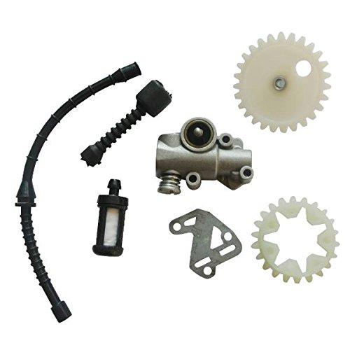 JRL Oil Pump & Gasket WORM GEAR SPUR WHEEL For STIHL 038 MS380 MS381