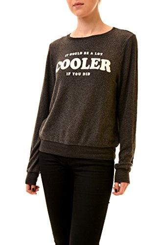 Wildfox Mujer Cooler If You Did Long Sleeve Jumper Negro limpia