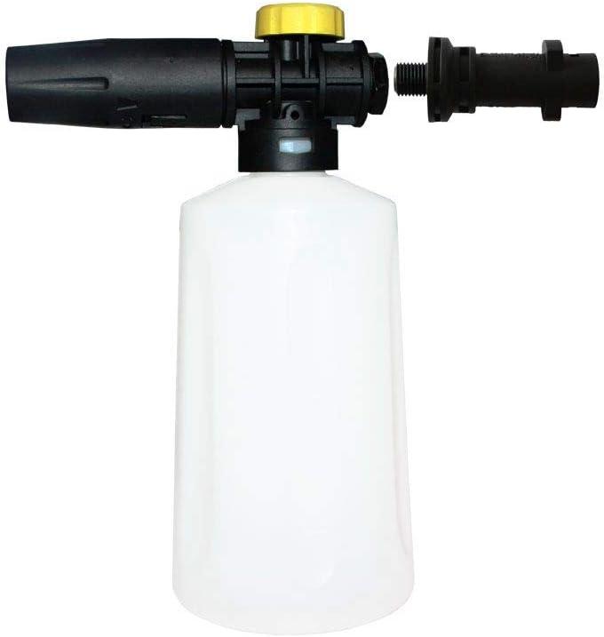 RETYLY Lanza de Espuma de Nieve para Karcher K2 - K7 Ca?ón Pistola de Espuma de Alta Presión Boquilla de Espuma Portátil de Todo Plástico Lavadero de Coche Pulverizador de Jabón