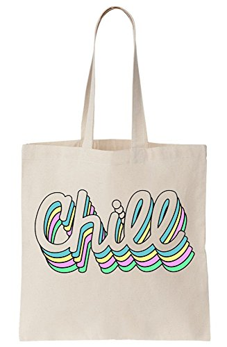Bag Colors Pastel Duplicated Chill Rainbow Typography Tote Canvas w8RCxq