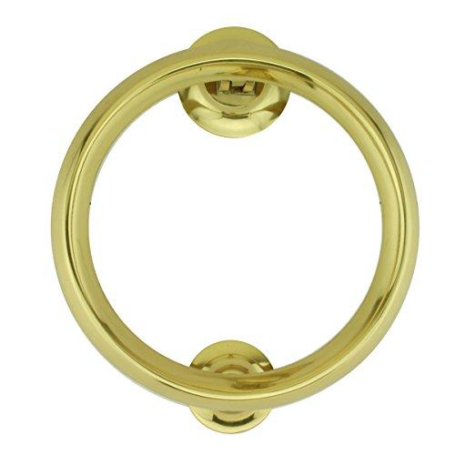 Renovator's Supply Brass Ring Door Knocker Heavy Duty Smooth Round Shape 5 Inch Diameter