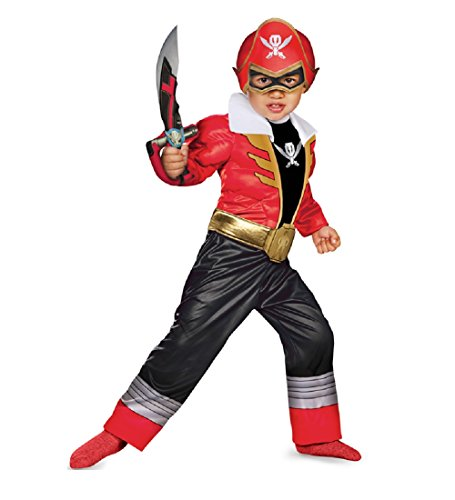 Power Ranger Super Megaforce Red Muscle Child Costume Gloves XS 3-4T (Mighty Morphin Power Rangers Halloween Costumes)