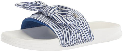 Nautica Women's Purser Slide Sandal, Blue Stripe, 7 M US (Dresses For Women Nautica)