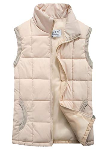 感心する日の出呼び出すchenshiba-JP レディースアウターウェアスタンドカラースリムフィット軽量ダウンベストパッドジャケット