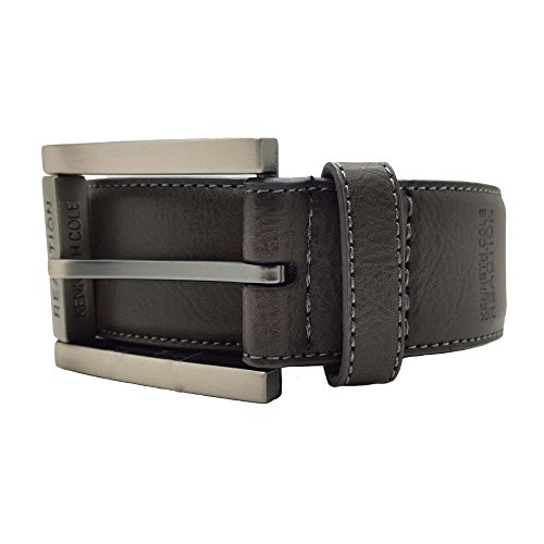 Belt Matte - Kenneth Cole REACTION Men's Dress Casual Belt With Edge Stitch and Matte Black Buckle With Roller,Grey,42