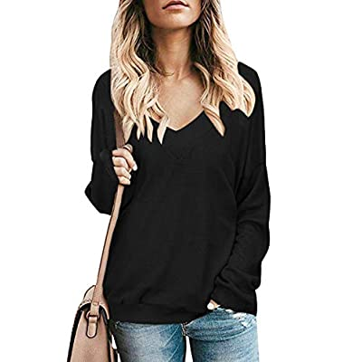 Women's Casual Crew Neck Long Sleeve Shirts Color Block Sweatshirt Blouse Tops at Women's Clothing store