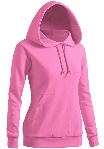 - CLOVERY Women's Long Sleeve Pocket Pullover Hoodies LIGHTPINK US L/Tag L