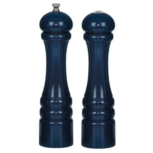 Chef Specialties 10 Inch Imperial Pepper Mill and Salt Shaker Set - Cobalt - Blue Pepper Salt And