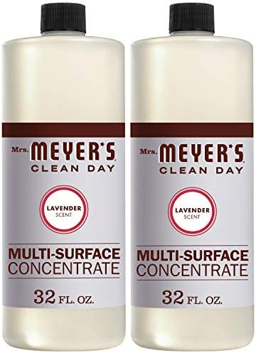 Mrs. Meyer's Clean Day Multi-Surface Cleaner Concentrate, Use to Clean Floors, Tile, Counters,Lavender Scent, 32 oz- Pack of two