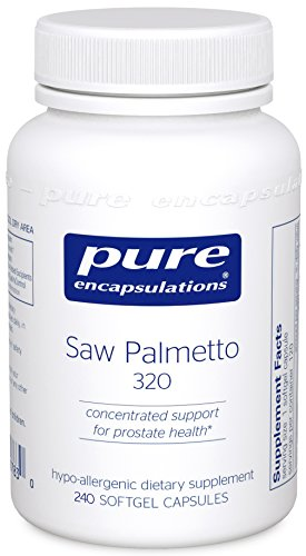 Pure Encapsulations - Saw Palmetto 320 - Hypoallergenic Supplement with Concentrated Support for Healthy Prostate and Urinary Function* - 240 Softgel Capsules by Pure Encapsulations