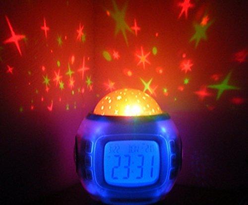 New Amazing Music Starry Sky Projection Calendar Alarm Clock