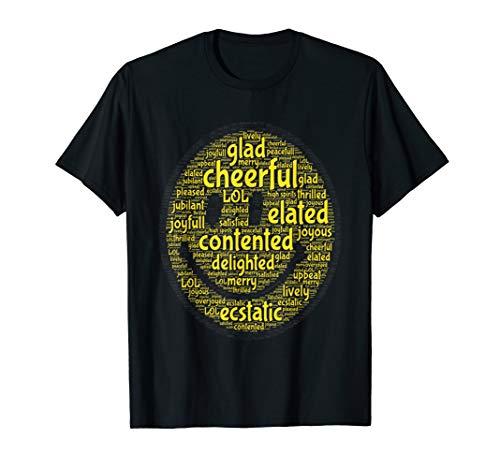 Mr Happy Smiley Funny Face Positive Cute Motivate Cloud T-Shirt]()