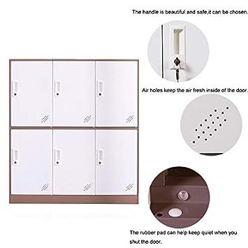 School Bank Metalstar Knock Down Structure Metal Storage Cabinet Organizer,Steel Locker for Office 9 Door, Grey Home Gym