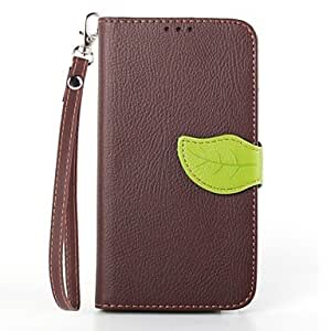 LHY Leaves Pattern Full Body Case with Stand for Samsung Galaxy Note 3(Assorted Colors) , Brown