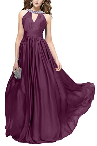 Fest Damen Grape Abendkleid Hochtaille Ivydressing Quinceanera Hochzeitgastkleider Promkleider Party Modisch Ballkleid XwUWd