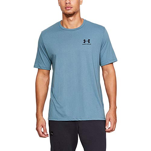 Under Armour mens Sportstyle Left Chest Short Sleeve T-Shirt, Thunder (407)/Black, X-Large