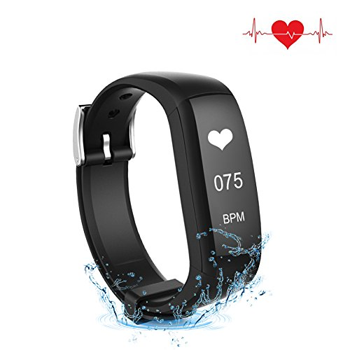 AK1980 Waterproof Fitness Tracker with 24-hour Real-time Heart Rate Monitor, Calorie Counts,...