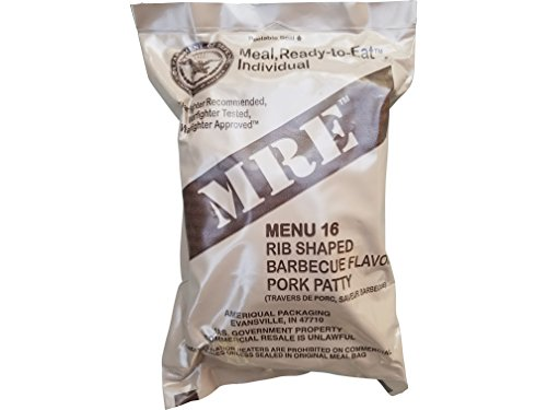 Price comparison product image Ultimate 2018 US Military MRE Complete Meal Inspection Date January 2018 or Newer (BBQ Pork Rib)