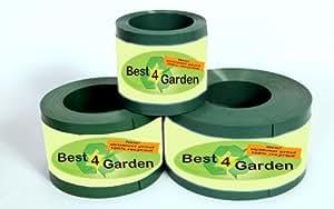 Best4garden Heavy Duty Edging Green 1.8mm thick 10m, 15cm depth