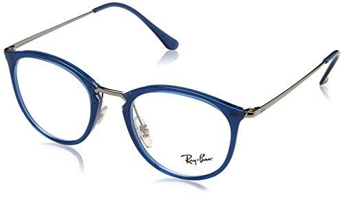 Ray-Ban rx7140 5752 49 verres en bleu transparent RX7140 5752 49 Clear Transparent Blue