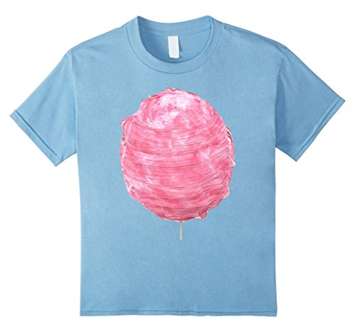 Kids Pink Cotton Candy Costume T-Shirt spin sugar sweet treat 12 Baby Blue