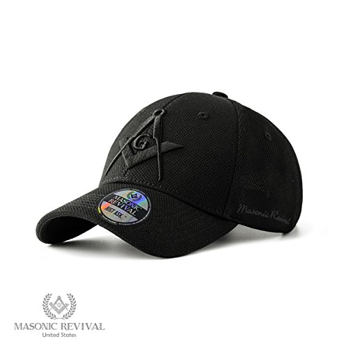 (Masonic Revival - Noche Cap Square and Compass Masonic Hat (Adjustable)