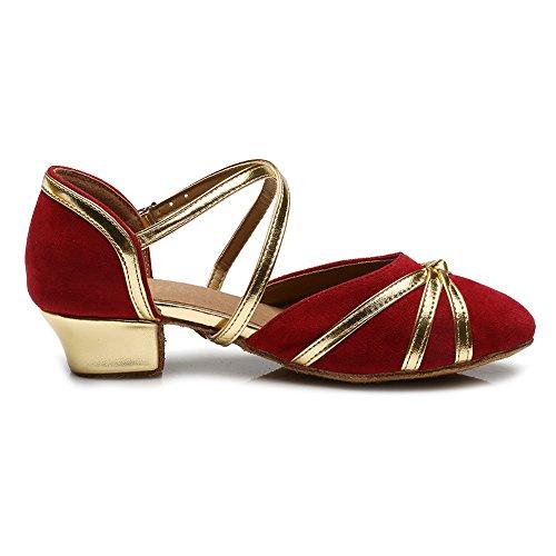 Ykxlm Standard Pour Modle Salle Rouge Salsa Chaussures Latine De Femmes Danse Uk306 Spectacle Filles Et wqCxA4vC