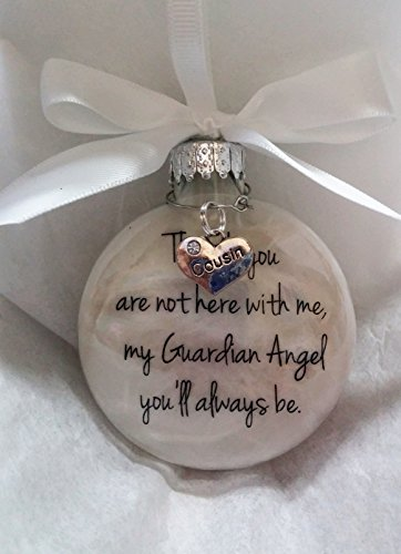 In Memory Cousin Gift My Guardian Angel You'll Always Be - Family Memorial Christmas Ornament