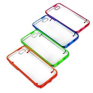 Dos luces de color a prueba de polvo de la noche Opción duro caso de la cubierta para el iPhone 5C: Deep Blue