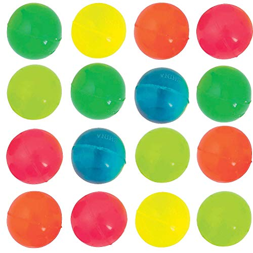Kicko Neon Bouncing Balls Assortment - Pack of 18-1 Inch Assorted Neon Colors - High Bouncing Balls - for Kids Boys and Girls Party Favors, Bag Stuffers, Fun, Toy, Prize, Pinata Fillers